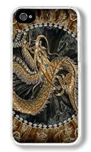 Chinese Golden Dragon Custom iPhone 6 plus 5.5 Case Back Cover, Snap-on Shell Case Polycarbonate PC Plastic Hard Case Transparent