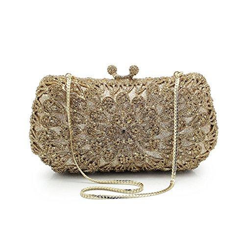 dinner Telinbu bag Gold full diamond of bag bride bag women Drilled 6nznAx5