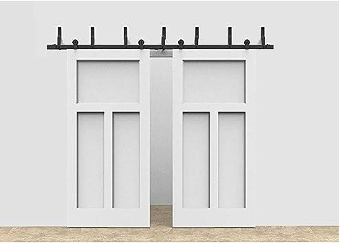Bypass - Sistema de suspensión de puerta corredera de doble puerta, diseño en forma de T, ideal para puertas de armario, interiores y exteriores: Amazon.es: Bricolaje y herramientas