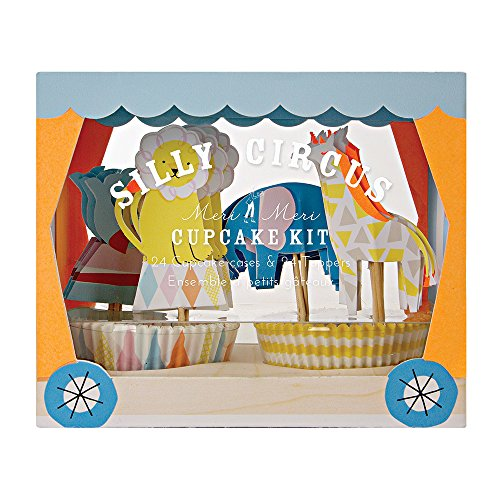 Circus Elephant Silly - Meri Meri Silly Circus Cupcake Kit