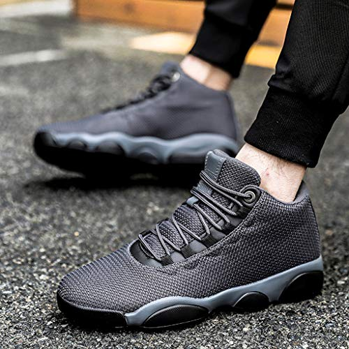 Running Basketball Shoe,Men Net Surface Flat Non-Slip Breathable Lightweight Youth Sports Sneakers Gym Training Shoes Gray by Hotcl (Image #4)