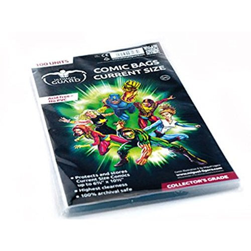 Comic Bags - Current (10 Packs of 100) by Comic Bags & Backing Boards Ultimate Guard