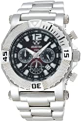 REACTOR Men's 93011 Neutron Chronograph Degrading Red Dial Stainless Steel Watch
