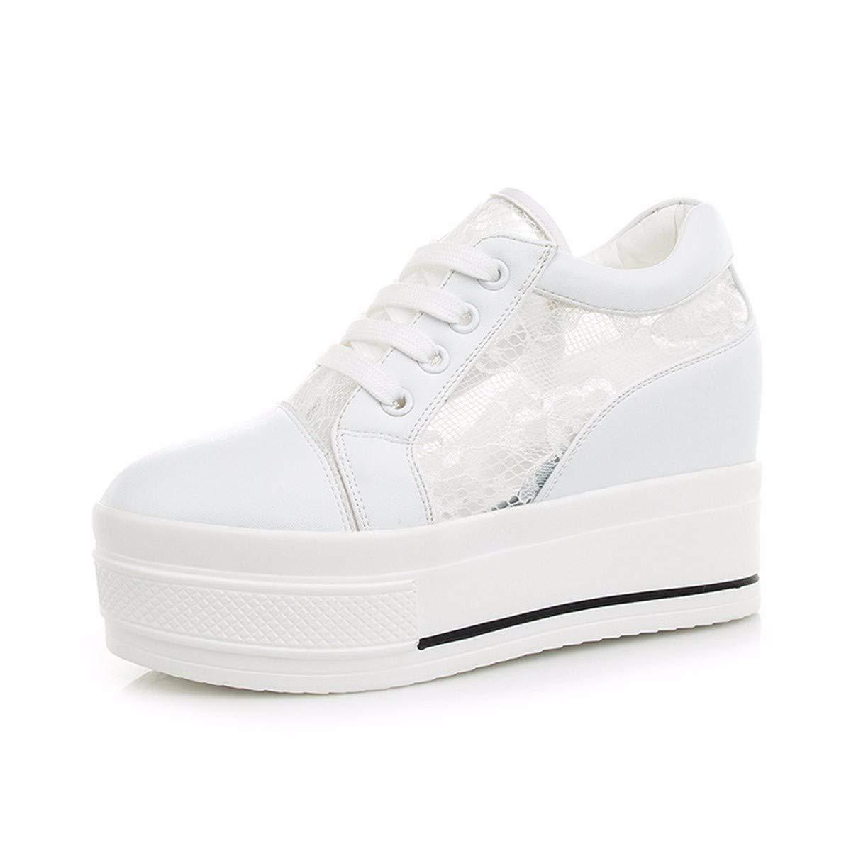 KPHY Damenschuhe Sommer Mesh Atmungsaktiv Dicke Zusammenbrach Casual Casual Casual Schuhen Ladies'schuhe Weiße 36 a1099e