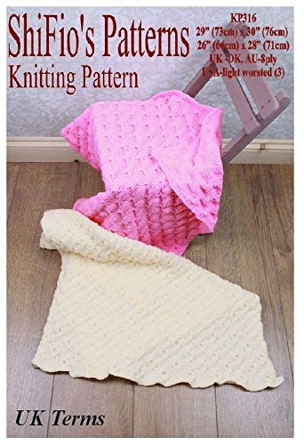 (Knitting Pattern - KP316 - 2 knitted baby afghan/blanket -  UK Terminology)