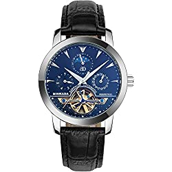 BINKADA Men's Novelty Date Week Moon Pase Automatic Mechanical Watch #705602-2