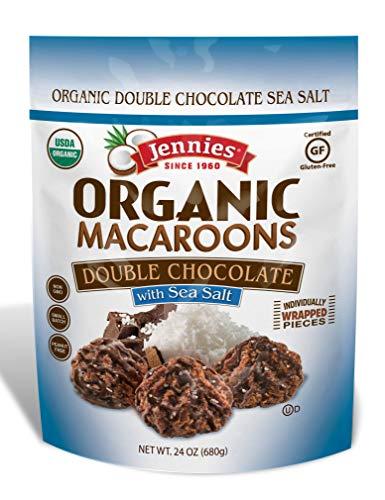 Macaroon Mix Coconut (Jennies Organic Macaroons Double Chocolate Sea Salt, Gluten Free, Peanut Free, Non GMO - 24 Ounce Bag)