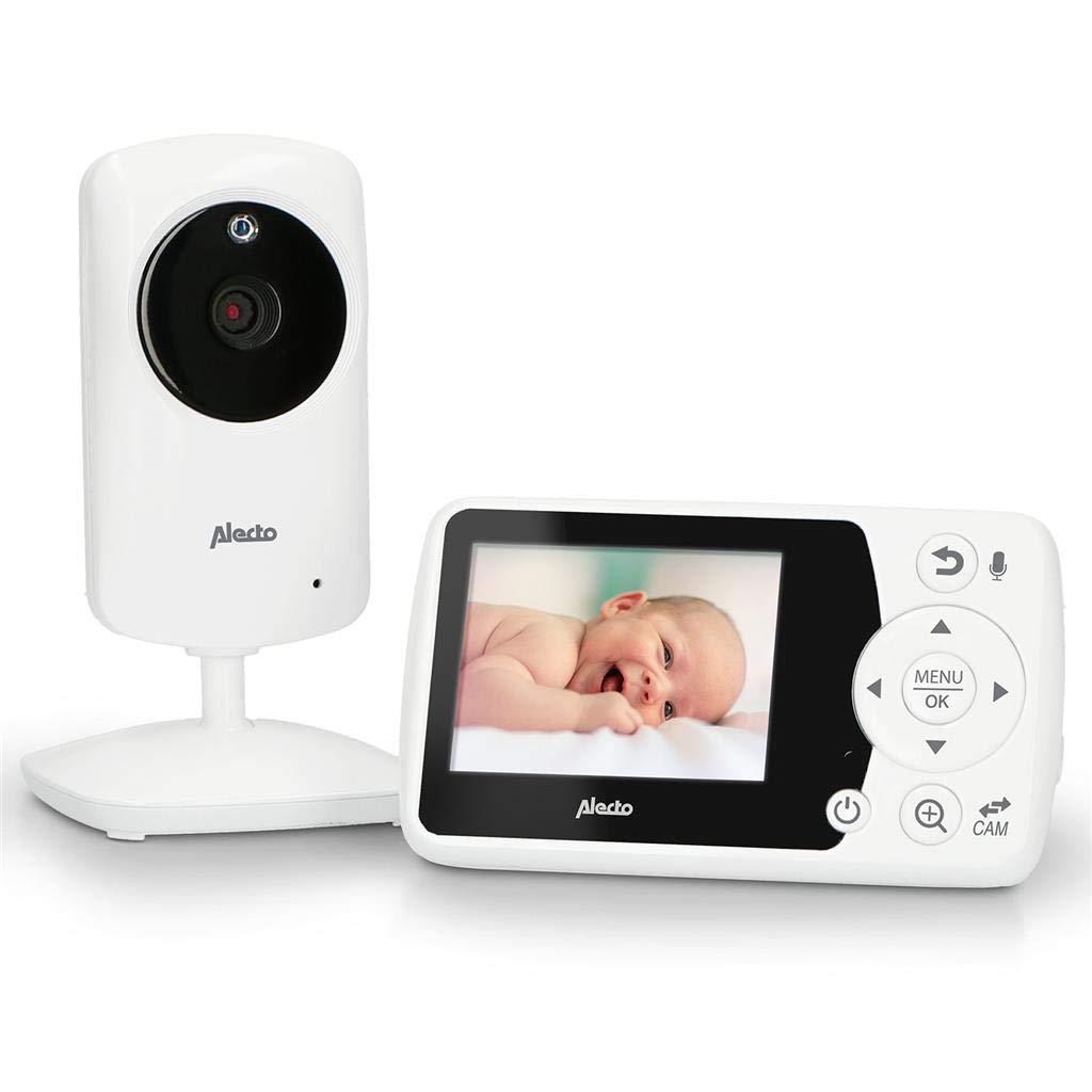 hohe Reichweite 100/% st/örungsfrei /& privat Alecto DVM-64 Funk Kamera Babyphone mit schwenkbarer video Kamera Gegensprechfunktion Nachtsicht