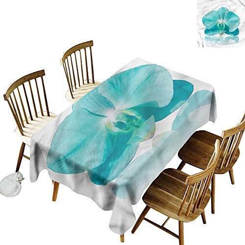 - Sillgt Tablecloth Aqua Blue Orchid Nature Botanic High-end Durable Creative Home 60