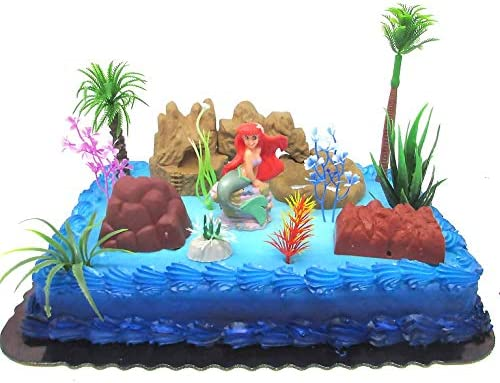 Remarkable Amazon Com Under The Sea Little Mermaid Birthday Cake Topper Set Funny Birthday Cards Online Alyptdamsfinfo