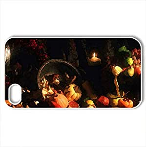 Autumn Riches - Case Cover for iPhone 4 and 4s (Watercolor style, White)