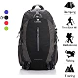 Camel 50L Waterproof Hiking Backpack with Rain Cover Outdoor Camping Trekking Travel Daypack