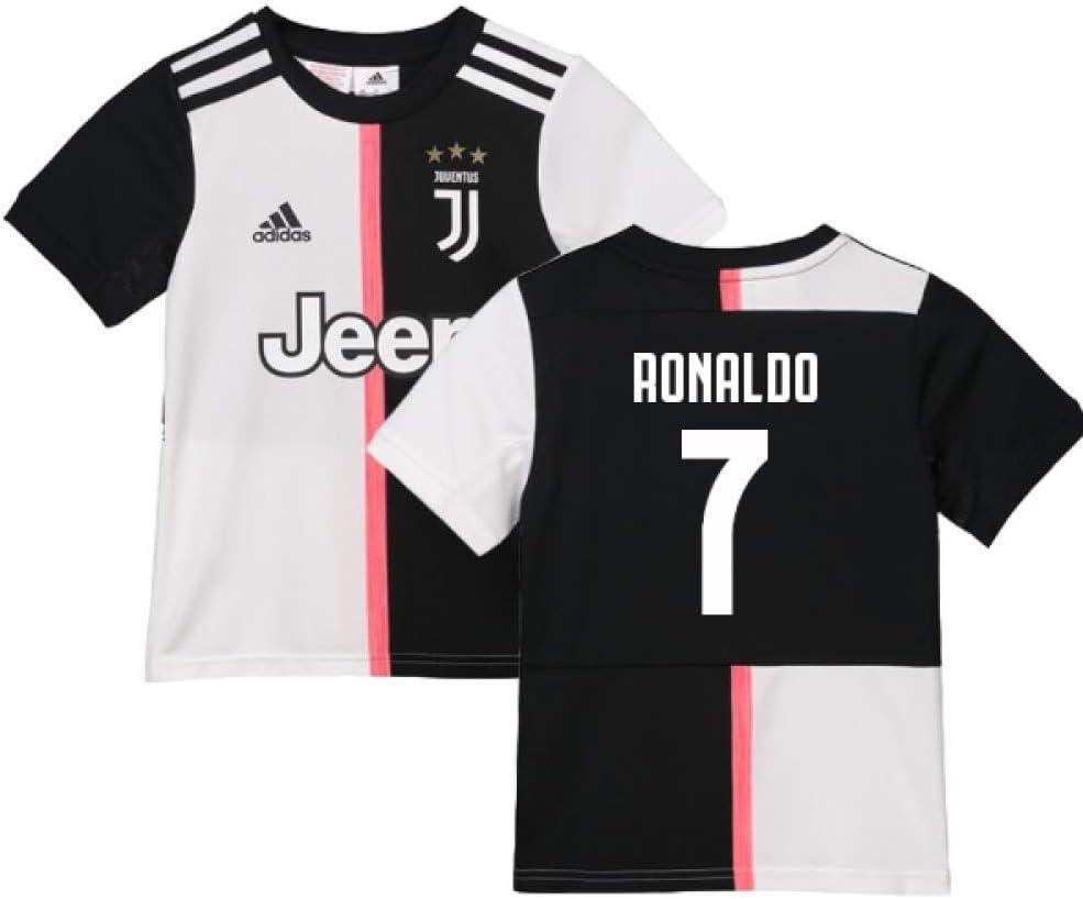 2019-2020 Juventus Adidas Home Football Soccer T-Shirt Camiseta (Kids) (Cristiano Ronaldo 7): Amazon.es: Deportes y aire libre