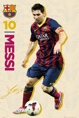 "Lionel Messi - Sport Poster / Print (FC Barcelona - Messi 2014) (Size: 24"" x 36"")"