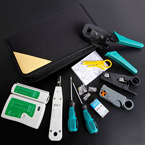 SGILE 12 in 1 Network Repair Kits Professional Network Tools Kits Computer Maintenacnce Lan Cable Tester Computer & Mobile Device Repair Kits by SGILE (Image #4)