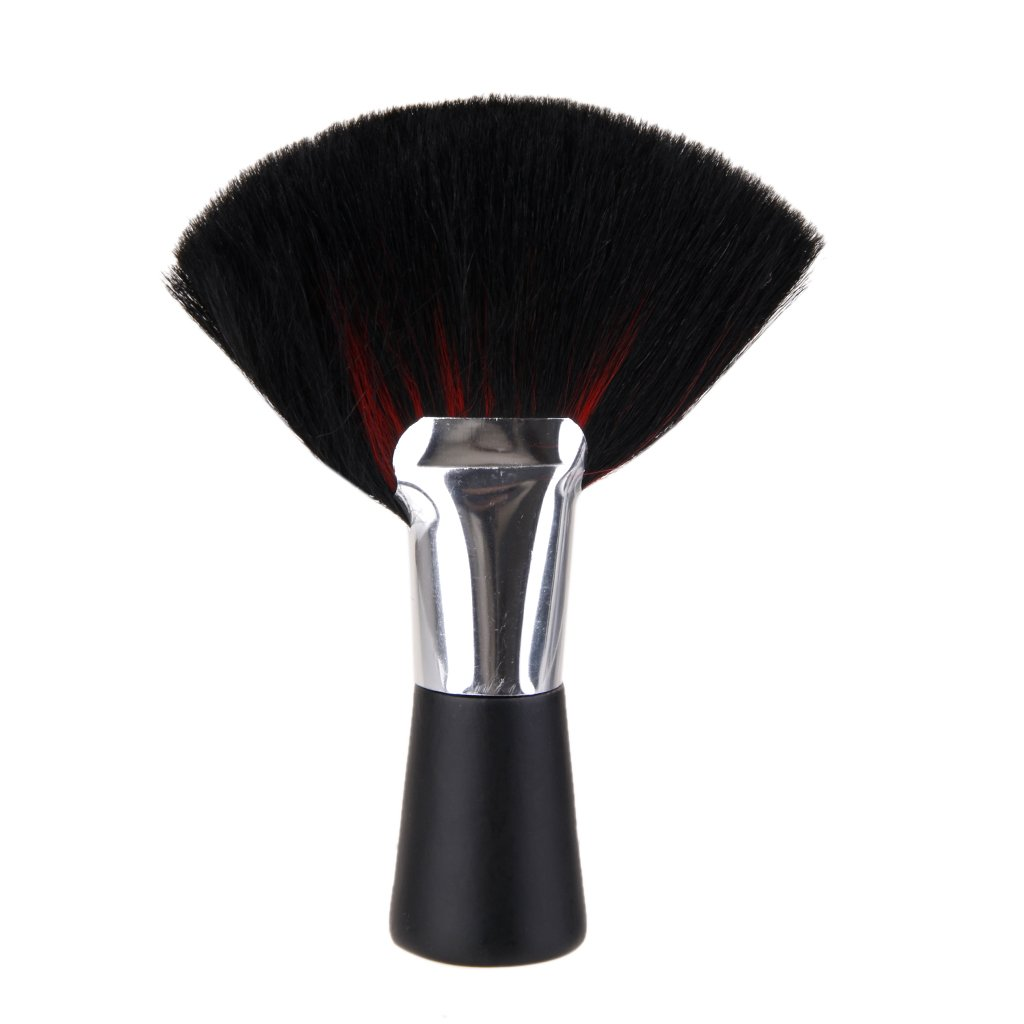 Plastic Hair Cut Clean Brush Neck Duster Brush - Black Generic