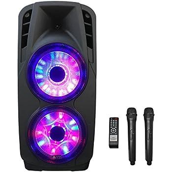 """EMB PKL6000 2000W 2x12"""" PA Rechargeable Trolley Speaker System"""