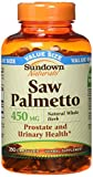 Cheap Sundown Saw Palmetto 450 mg Capsules 250 ea (Pack of 2)
