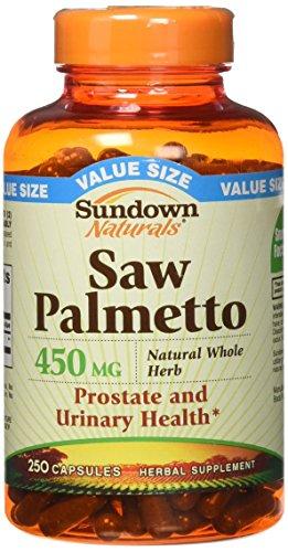Sundown Saw Palmetto 450 mg Capsules 250 ea (Pack of 2)