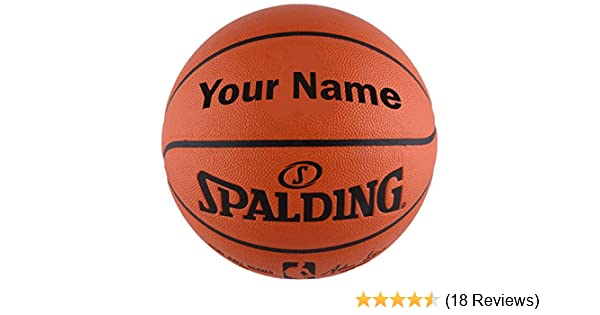 2ae38b4ec41 Amazon.com   Customized Personalized Spalding NBA Replica Indoor Outdoor  Basketball   Sports   Outdoors