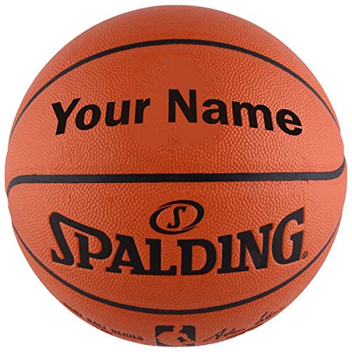 "Customized Personalized Spalding NBA Replica Indoor Outdoor Basketball (29.5"")"