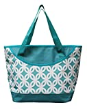 freezer tote - Earthwise INSULATED Grocery Bag Reusable Large Cooler Shopping Tote w ZIPPER Closure & FRONT POCKET