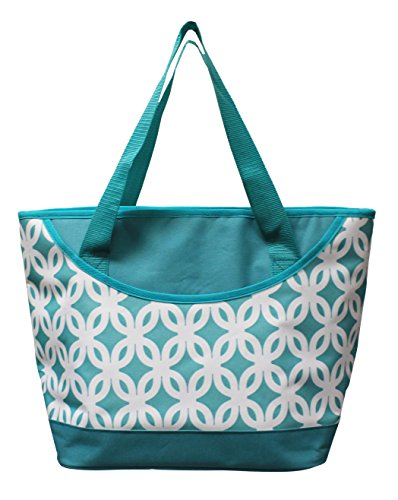 Leak Proof Peva Lining - Earthwise Insulated Grocery Bag Reusable Large Cooler Shopping Tote with Zipper Closure, Thermal Peva Lining and Front Pocket for Entertainment, Picnics, Travel, Beach