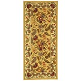 Safavieh Chelsea Collection HK141A Hand-Hooked Ivory Premium Wool Area Rug (2'6″ x 4′)
