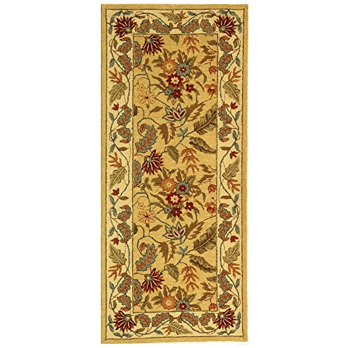 Safavieh Chelsea Collection HK141A Hand-Hooked Ivory Premium Wool Area Rug (2'6