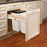 Rev-A-Shelf 4WCTM-24DM2 4WCTM Series Double 35 Quart Top Mount Wood Pull Out Was, Natural Wood