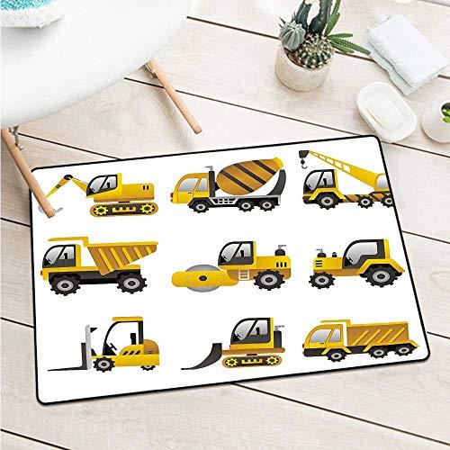 Custom&blanket Construction Welcome Door Mat Big Vehicles