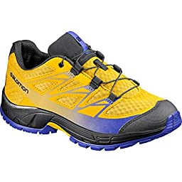 Salomon 2015/16 Junior\'s Wings J Running Shoes - L37844100 (Bee-X/Black/Cobalt - 6)