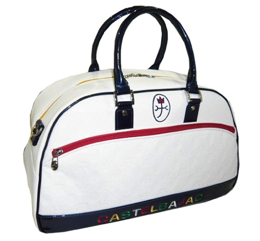 [カステルバジャックスポーツ] ゴルフ メンズ ボストンバッグ B07Q7GF73L ホワイト(01) 40