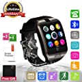 Smart Watch Bluetooth Smartwatch with Camera TouchScreen SIM Card Slot, Waterproof Phones Smart Wrist Watch Sports Fitness Compatible with iPhone Android Samsung Huawei Sony for Kids Men Women