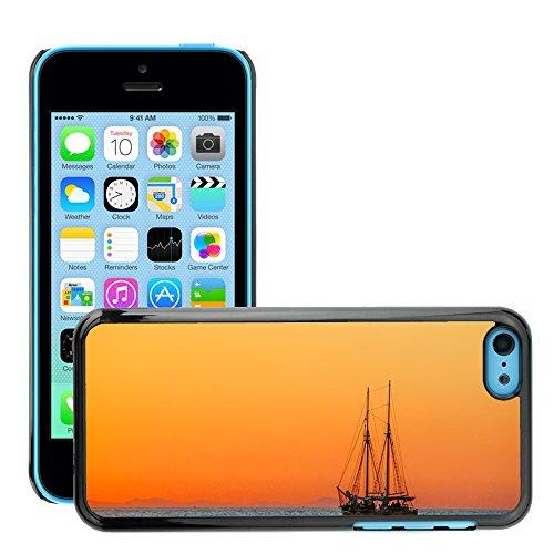 Stampato Modelli Hard plastica Custodie indietro Case Cover pelle protettiva Per // M00421622 Sea Sailing Vessel Boot navire // Apple iPhone 5C