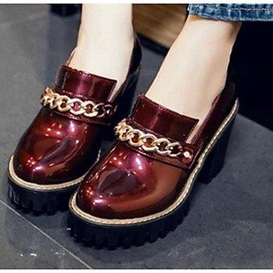 LvYuan-ggx Damen High Heels Komfort PU Frühling Normal Komfort Schwarz Silber Rot 5 - 7 cm silver