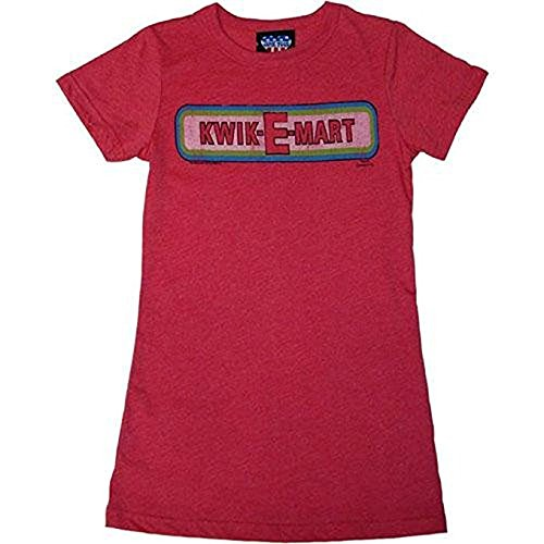 Simpsons Kwik-E-Mart Thank You Come Again Juniors T-Shirt, Red, X-Large (E-mart Simpsons Kwik)