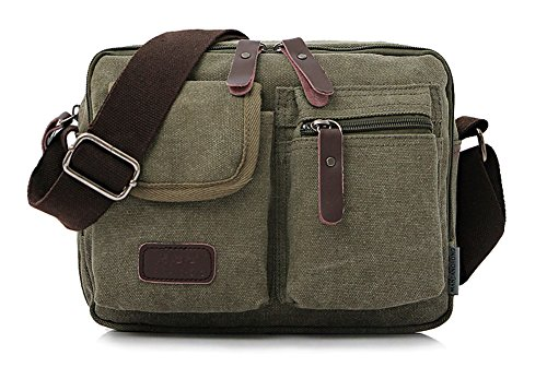 (Collsants Small Vintage Canvas Crossbody Purse Travel Shoulder Bags Messenger Satchel Bag)