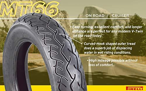 Pirelli MT 66 Route Motorcycle Cruiser Tire (100/90-19 F 170/80-15 R) Includes Neck Gaiter