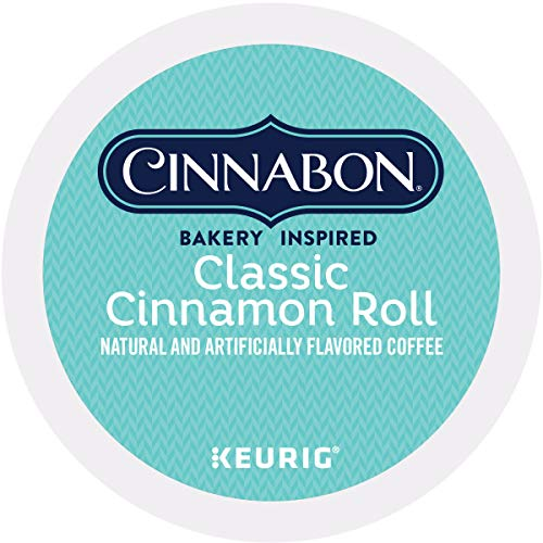 Cinnabon Classic Cinnamon Roll Keurig Single-Serve K-Cup Pods, Light Roast Coffee, 72 Count (K Cinnamon Cups Keurig)