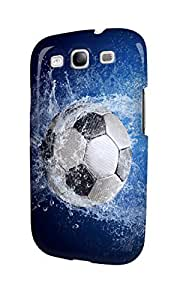 S30526 Football Soccer Ball Splash Glossy Case Cover For Galaxy S3 by runtopwell