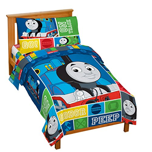 Thomas Tank Train On Track Toddler Bedding Set