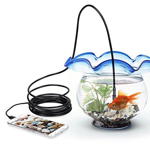 SCASTOE 5.5mm Waterproof HD 6LED USB/Micro USB Endoscope Inspection Camera for PC, Phone
