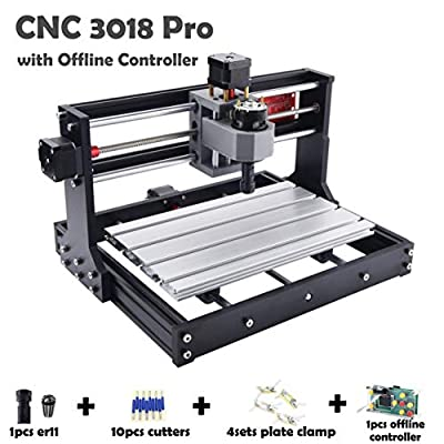 CNC3018PRO with offline controller CNC 3018 Pro engraving Machine DIY CNC Carving machine GRBL Control Wood Milling router Machine XYZ Working Area 300x180x45mm