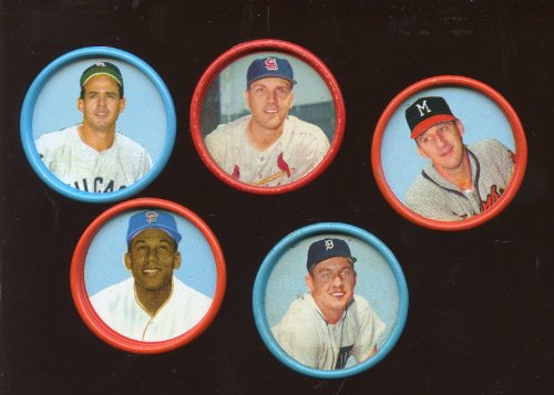 1963 Salada Baseball Coin Lot 5 Different (Salada Baseball Coins)