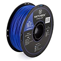 HATCHBOX 3D ABS-1KG1.75-BLU ABS 3D Printer Filament, Dimensional Accuracy +/- 0.03 mm, 1 kg Spool, 1.75 mm, Blue by HATCHBOX