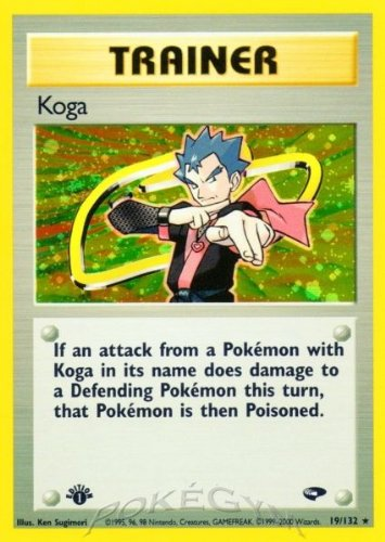 (Pokemon Koga Holofoil - Gym Challenge - 19 [Toy])