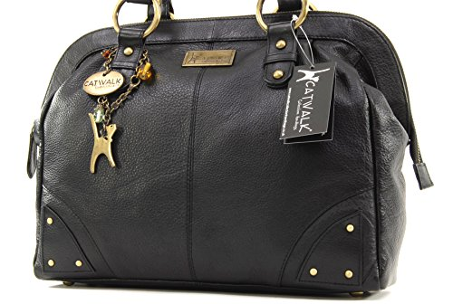 Catwalk Black Leather Doctor Collection Bag qIpzrwqP