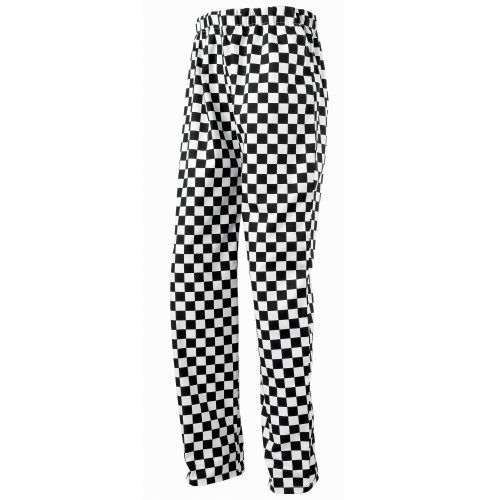 Premier Essential Unisex Chefs Trouser / Catering Workwear (M) (Black/White (Big (Essential Trousers)