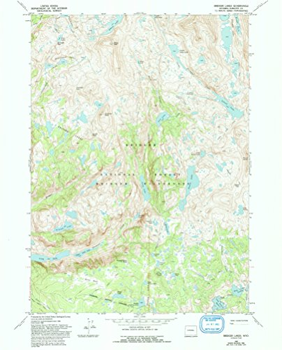 Bridger Lakes WY topo map, 1:24000 scale, 7.5 X 7.5 Minute, Historical, 1968, updated 1993, 26.8 x 21.6 IN - Tyvek